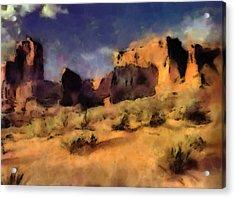 Arches National Monument-utah Acrylic Print by Elaine Frink