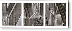 Architectural Detail Triptych Acrylic Print by Carol Leigh