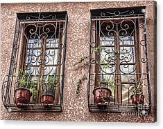 Architecture I Windows Acrylic Print by Chuck Kuhn