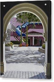 Archway In Sunlight Acrylic Print