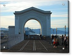 Archway Pier 39 San Francisco Acrylic Print by Richard Adams
