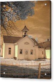 Arcola Illinois School Acrylic Print by Jane Linders