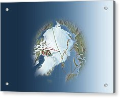 Arctic Exploration, Route Maps Acrylic Print by Mikkel Juul Jensen