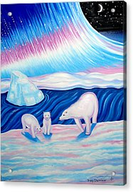 Arctic Nights Acrylic Print by Tracy Dennison