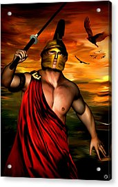 Ares Acrylic Print by Lourry Legarde
