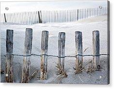 Aresquiers Beach Acrylic Print by Anne Petitfils