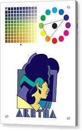 Aretha Franklin No.02 Acrylic Print