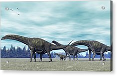 Acrylic Print featuring the digital art Argentinosaurus by Walter Colvin