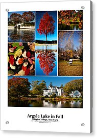 Argyle Lake Fall Poster Acrylic Print by Vicki Jauron
