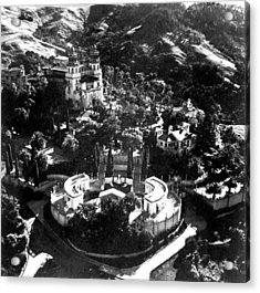 Arial View Of Hearst Castle, San Acrylic Print by Everett