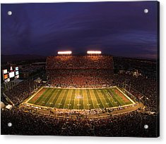 Arizona Arizona Stadium Under The Lights Acrylic Print by J and L Photography