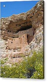 Acrylic Print featuring the photograph Arizona Cliff Dwellings by Judy Hall-Folde