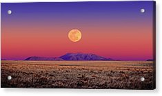 Arizona Full Moon Acrylic Print