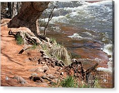 Acrylic Print featuring the photograph Arizona Red Water by Debbie Hart