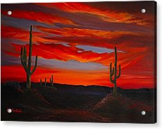 Arizona Sunset Acrylic Print by Tom McAlpin