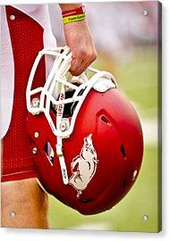 Arkansas Razorback Helmet Acrylic Print