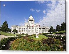 Arkansas State Capitol Building Acrylic Print by Wesley Hitt