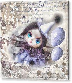 Arlequin Acrylic Print by Mo T