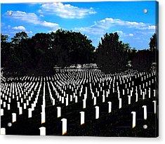 Arlington National Cemetery Acrylic Print by Valia Bradshaw