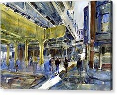 Armitage L Station Acrylic Print by Gordon France
