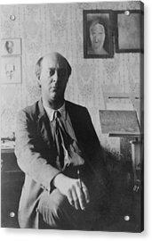 Arnold Schoenberg 1874-1951 Acrylic Print by Everett