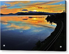 Around The Bend Acrylic Print by Benjamin Yeager
