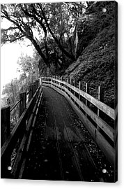 Around The Bend Acrylic Print by Leah Moore