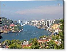 Arrábida Bridge Over River Acrylic Print by Cmanuel Photography - Portugal