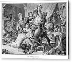 Arrest Of Mortimer, 1330 Acrylic Print by Granger