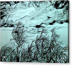 Arrival Of Chinook Acrylic Print by Anna  Duyunova