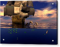 Acrylic Print featuring the digital art Arrival Of The Pilots by Claude McCoy