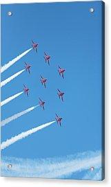 Arrows Round The Bend Acrylic Print by Paul Cowan