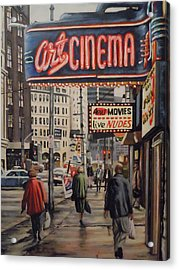 Art Cinema Acrylic Print by James Guentner