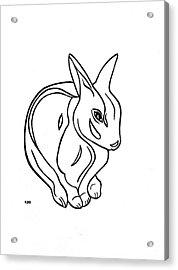 Art Deco Bunny Acrylic Print