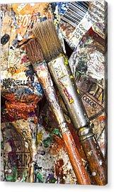 Art Is Messy 2 Acrylic Print by Carol Leigh