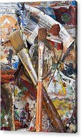 Art Is Messy 3 Acrylic Print by Carol Leigh