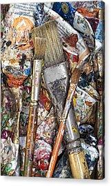 Art Is Messy 4 Acrylic Print by Carol Leigh