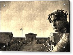 Art Museum Of Philadelphia Acrylic Print by Andrew Dinh
