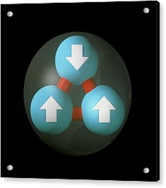 Art Of Proton Showing Constituent Quarks Acrylic Print by Laguna Design