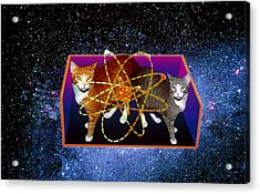 Art Of Schrodinger's Cat Experiment Acrylic Print by Volker Steger