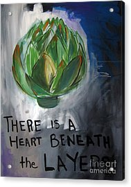 Artichoke Acrylic Print by Linda Woods