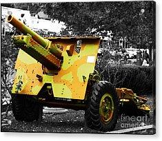 Acrylic Print featuring the photograph Artillery Piece by Blair Stuart