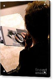 Artist At Work Acrylic Print by Al Bourassa