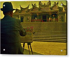 Acrylic Print featuring the photograph Artist At Work by Craig Wood