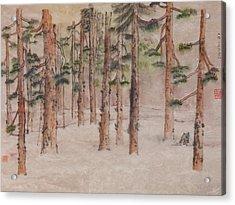 Artist Being Alone Acrylic Print