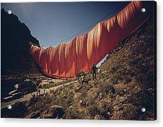 Artist Christos 400 Meter Six-ton Acrylic Print