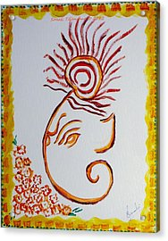 Acrylic Print featuring the painting Artistic Lord Ganesha by Sonali Gangane