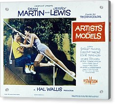Artists And Models, Jerry Lewis Acrylic Print by Everett