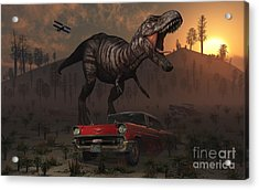 Artists Concept Illustrating Acrylic Print by Mark Stevenson