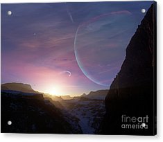 Artists Concept Of A Scene Acrylic Print by Brian Christensen